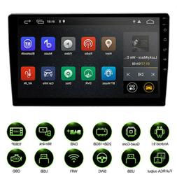 """10.1"""" inch Android 9.1 Double 2 DIN Car Radio Stereo Quad Co"""