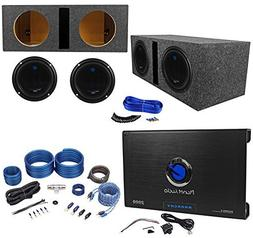 "2) PLANET AUDIO AC10D 10"" 3000W Subwoofers+Vented Sub Box+2"