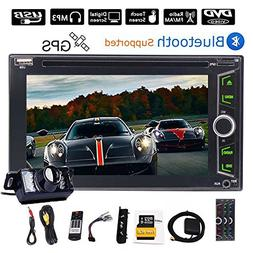 2 Din Car Stereo Bluetooth 6.2'' Touch Screen Double Din GPS