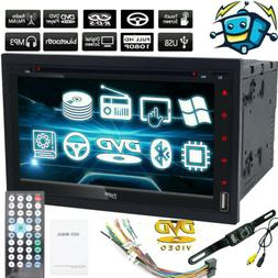 2020 Double 2 Din Car Stereo HD CD DVD Player Radio Bluetoot
