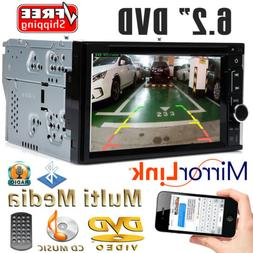 """6.2"""" 2 Din Car DVD CD Player Double Stereo Radio Bluetooth M"""