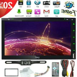 """7"""" Double 2 Din Car Stereo CD DVD Player HD Radio Bluetooth"""