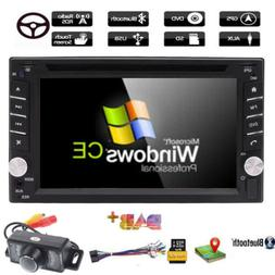 "6.2"" Double 2 Din In Dash Car Stereo DVD Player GPS Navi BT+"