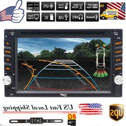 "6.2""Double 2Din Car Stereo DVD Player GPS Navigation Bluetoo"