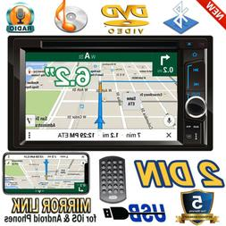 "6.2"" Mirror Link Car DVD CD Player Double 2 Din Stereo Radio"