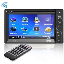 """6.5"""" in-Dash Touchscreen Double DIN - Bluetooth Head Unit"""