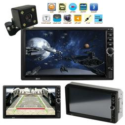 "7.0"" Double 2Din Touch Screen Car Stereo MP5 Player Bluetoot"