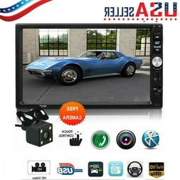 """7.0"""" Double 2Din Touch Screen Car Stereo MP5 Player Bluetoot"""