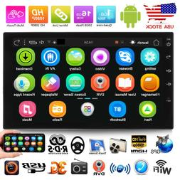 """7"""" Android 6.0 Car Radio Stereo MP5 GPS WIFI Double 2DIN Blu"""