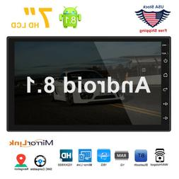 "7"" Android 8.1 Car Double Din Stereo GPS Navigation WIFI Blu"