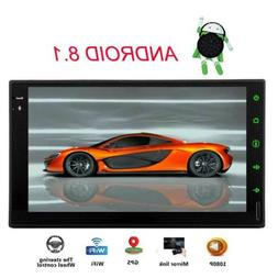 """7"""" Android 8.1 Oreo Double 2Din InDash Car GPS Navigation St"""