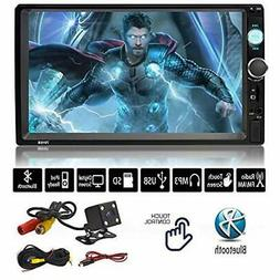 "7"" Car Stereo Receivers Inch Double Din Touchscreen Dash Aud"