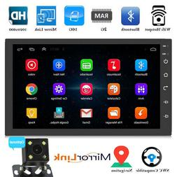 "7"" Double 2 DIN Android 8.1 Car Stereo MP5 Player Radio GPS"