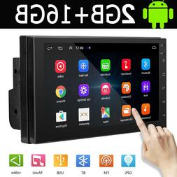 7'' Double 2 DIN Android 9.1 Car Stereo FM Radio GPS Navigat