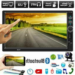 "7"" Double 2 DIN Car GPS FM Stereo Radio MP5 Player Touch Scr"