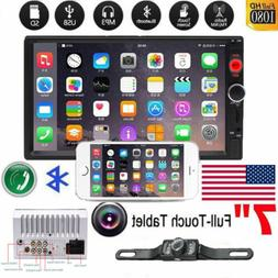 """7"""" Double 2 DIN Car MP5 MP3 Player Bluetooth Touch Stereo Ra"""