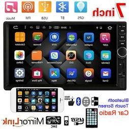 "7"" Double 2 DIN Car Stereo Radio MP5 Bluetooth Touch Screen"