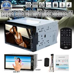 "7""Double 2Din Car CD DVD MP3 Player In Dash Bluetooth Radio"