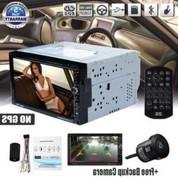 "7""Double 2Din Car DVD CD Player In Dash Bluetooth+Radio Ster"