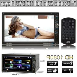 """7"""" Double 2Din Car In Dash CD DVD MP5 Player Multimedia Blue"""