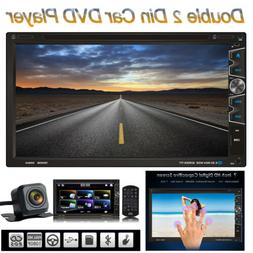 """7"""" Double 2Din Car Stereo CD DVD MP5 Player Radio Bluetooth"""