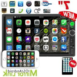 """7"""" Double 2DIN USB AUX Car Stereo Radio MP5 Player Bluetooth"""