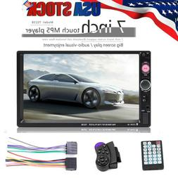 """7"""" Double 7023B 2 DIN Car FM Stereo Radio MP5 Player TouchSc"""