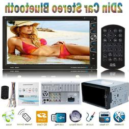 """7"""" Double DIN HD Car Stereo DVD VCD CD Player Remote Control"""