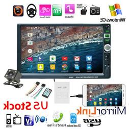 "7"" HD Double 2 DIN Car Radio Stereo MP5 Player Touch Screen"
