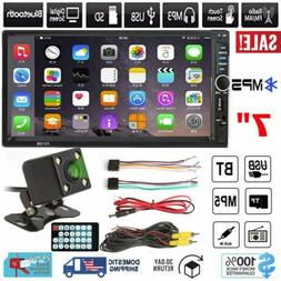 "7"" in  Double 2 DIN Car MP5 Player Bluetooth Touch Screen St"
