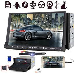 7 Inch Double 2DIN Stereo Car Detachable CD DVD Player GPS N