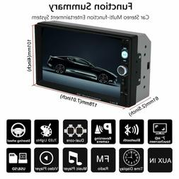 XIFULI 7 inch Double Din Touch Screen Car Stereo Upgrade The