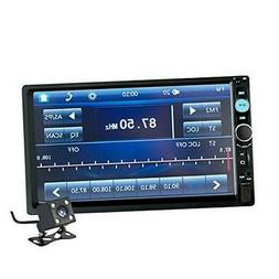 7 Inch Double Din Touch Screen Car Receiver Audio Video Play