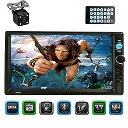 Caca 7 Inch Double Din Touchscreen Dash Stereo Car Receiver