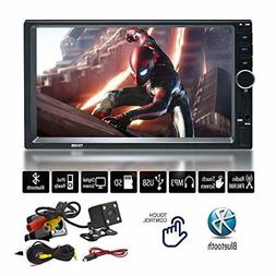 "7"" Inch Double Din Touchscreen in Dash Stereo Car Receiver A"