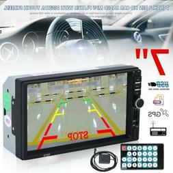 7 inch HD Car Double 2din Mp5 Radio Video Player with GPS US