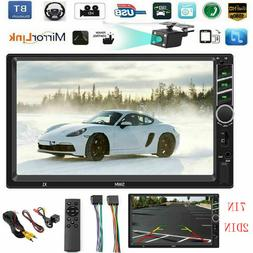 """SWM 7"""" Touch Double 2DIN HD Car Stereo MP5 Player FM Radio B"""
