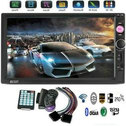 7inch Double Din Bluetooth LCD Receiver Touch Screen FM Radi