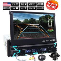 Rear Camera&GPS Single 1Din Car Stereo Radio CD DVD Player B