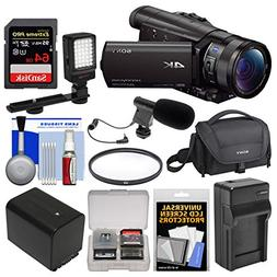 Sony Handycam FDR-AX100 Wi-Fi 4K HD Video Camera Camcorder w