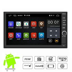 YODY Android Double Din Car Stereo Radio 7 Inch Touch Screen
