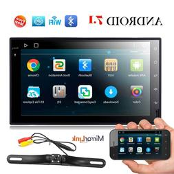 """Android 7.1 Double 2DIN Stereo 7"""" Car CD DVD Player GPS navi"""