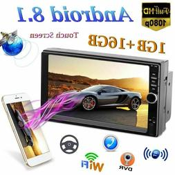 """Android 8.1 7"""" Double 2Din Quad Core GPS Navi WiFi Car Stere"""