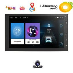 """Android 8.1 Double 2Din 7"""" HD Quad-Core Car Stereo Radio GPS"""