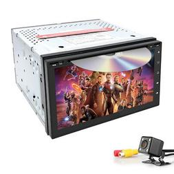 """Android 8.1 WiFi 4G Double Din 7"""" IPS GPS Car Stereo MP5 Pla"""
