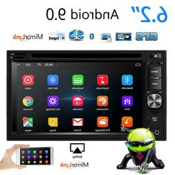 Android 9.0  Double 2Din 6.2inch DVD/CD Car Stereo In Dash R