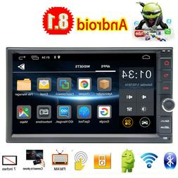 Android 9.1 GPS Double Din Car Stereo Radio No DVD mp5 Playe