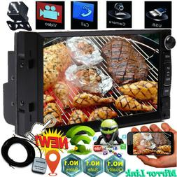 "Android Double DIN 7"" HD Car Stereo GPS Sat Navigation WiFi"