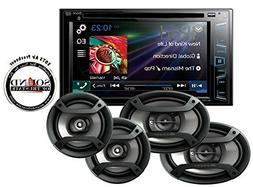"Pioneer AVH-280BT In Dash Double Din 6.2"" Touchscreen CD DVD"