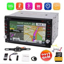 Backup Camera&GPS Double 2*Din Car Stereo Radio CD DVD Playe